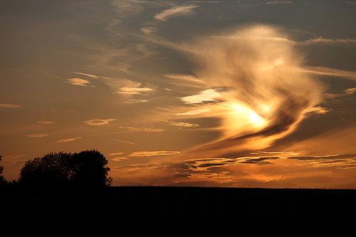 Wolken über dem Regnitztal
